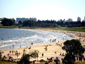 Montevidéu em dezembro: Playa Buceo
