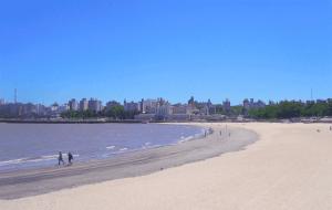 Montevidéu em fevereiro: praia
