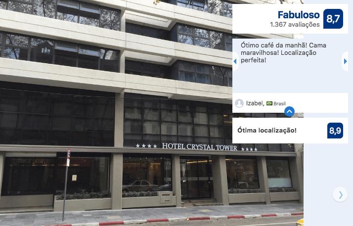 Hotéis no centro turístico de Montevidéu: Crystal Tower Hotel