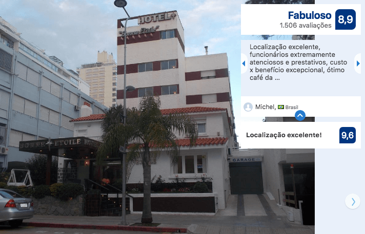 Hotéis no centro turístico de Punta del Este: Hotel Bonne Etoile