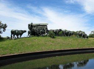 Parque Batlle em Montevidéu: Monumento La Carreta