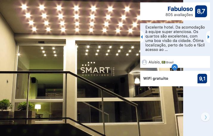 Hotéis no centro turístico de Montevidéu: Smart Hotel Montevideo