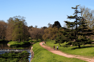 Montevidéu em maio: parque