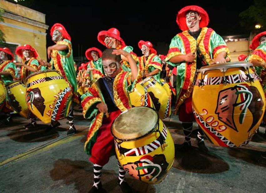 Montevidéu em fevereiro: Carnaval