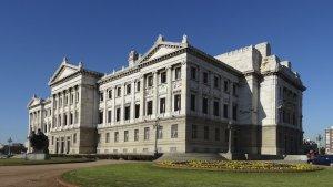 Palácio Legislativo do Uruguai em Montevidéu: jardim