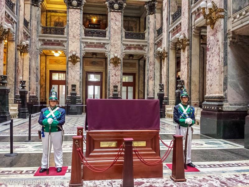 Palácio Legislativo do Uruguai em Montevidéu: salão