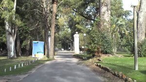 Parque Rivera em Montevidéu: entrada