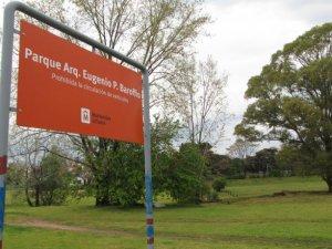 Parque Baroffio em Montevidéu: placa