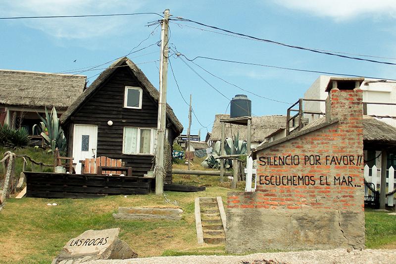 Punta del Diablo no Uruguai: casas