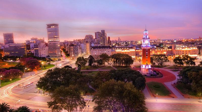 Montevidéu no final do dia