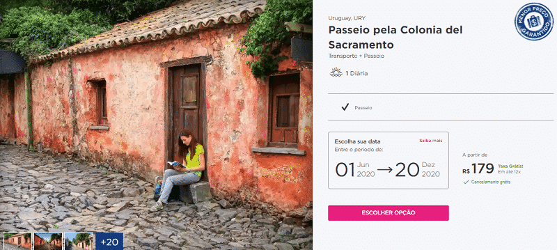Pacote Hurb passeio pela Colonia del Sacramento por R$ 179